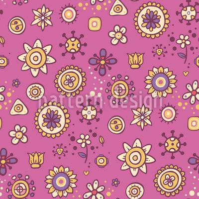 Scrapbook Blumen Nahtloses Vektor Muster