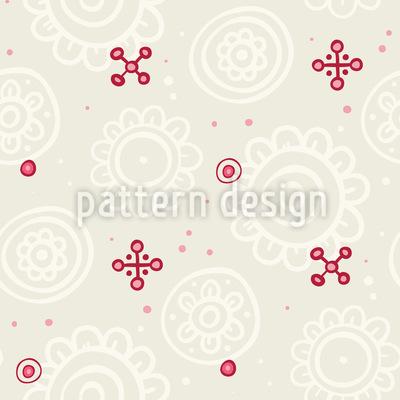 Blütenknospen Rapportiertes Design