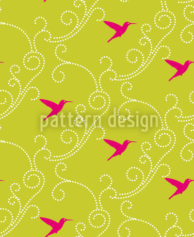 Hummingbird Repeat Pattern