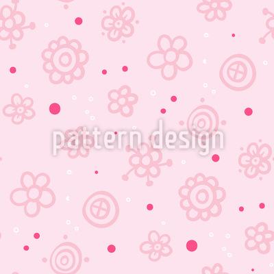 Fröhliche Blumen Rapportiertes Design
