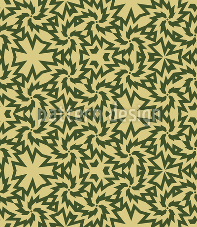 Zippy Camouflage Vector Ornament