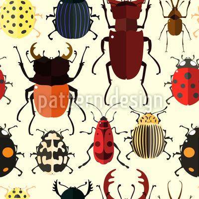 Niedliche Käfer Rapportmuster