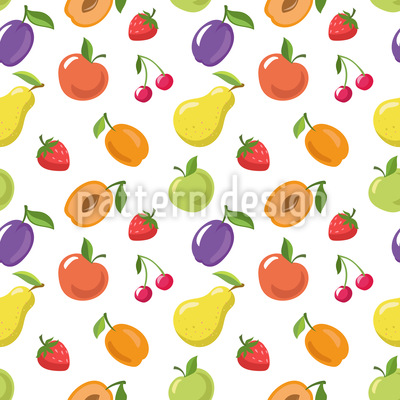 Summer Fruits Pattern Design