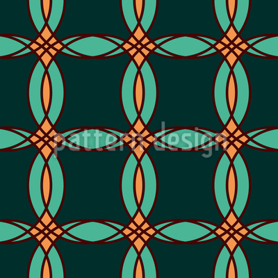 Offset Circles Vector Ornament