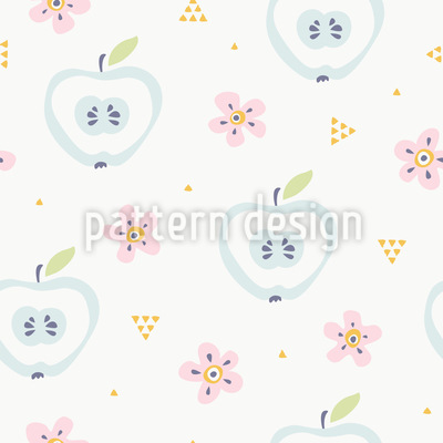 Apple Bloom Vector Pattern