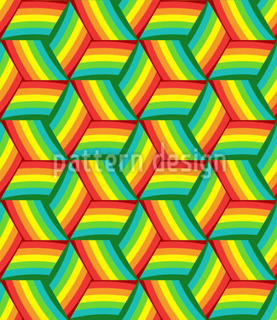 Rainbow Dance Repeat Pattern