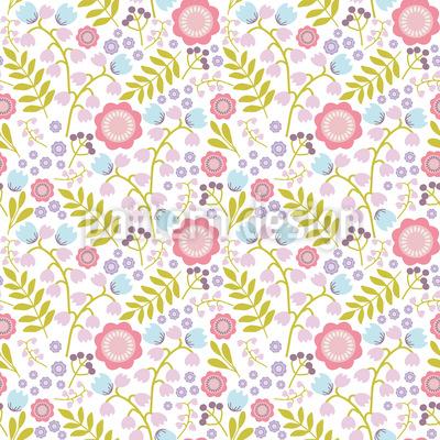 Niedliche Blumen und Zweige Muster Design