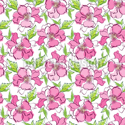 Natural Roses Pattern Design