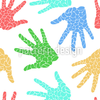 Hand Prints Vector Pattern