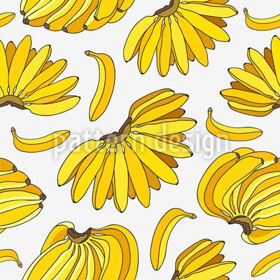 Ripe Bananas Repeating Pattern