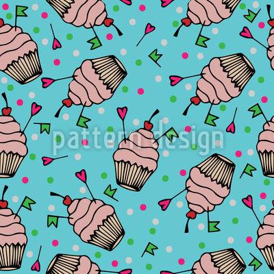 Cupcake Liebe Muster Design
