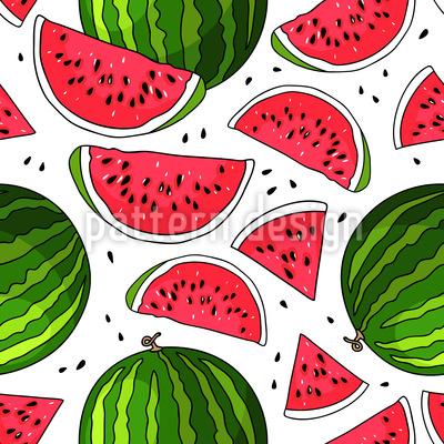 Saftige Wassermelone Musterdesign