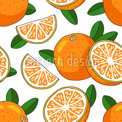 Sunny Orange Vector Ornament