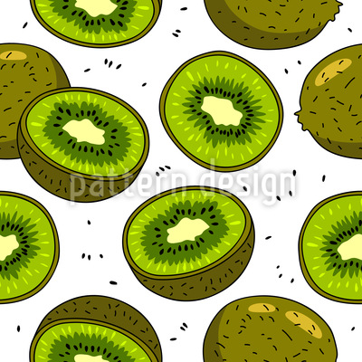 Kiwi Seamless Vector Pattern