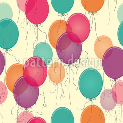 Vintage Balloons Seamless Pattern