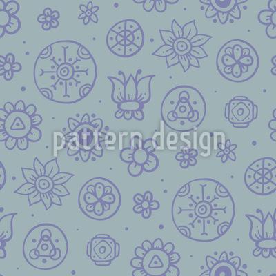 Beton Blumen Nahtloses Vektor Muster