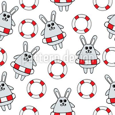 Gerettete Kaninchen Rapportiertes Design