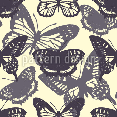 Butterfly Silhouettes Pattern Design