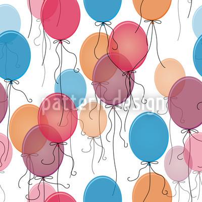 Thousand Ballons Seamless Vector Pattern