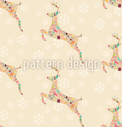 Christmas Reindeer Vector Ornament