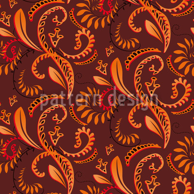 Spice Plants Vector Pattern
