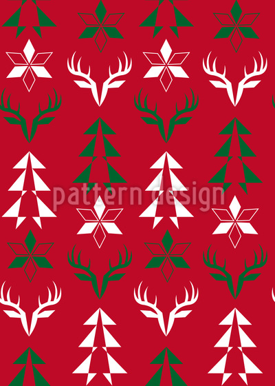 Christmas Signs Seamless Vector Pattern