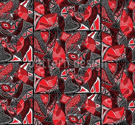 Tribal Tiles Vector Pattern