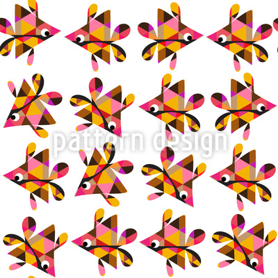 Fisch Geometrie Muster Design