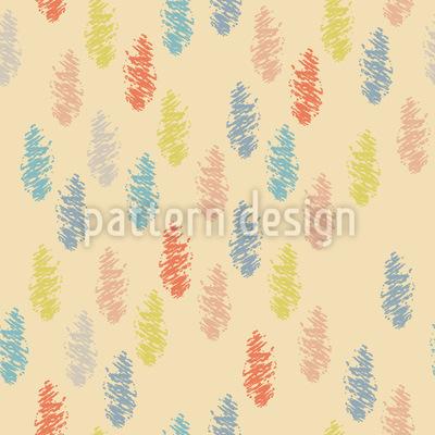 Gezeichnete Federn Muster Design