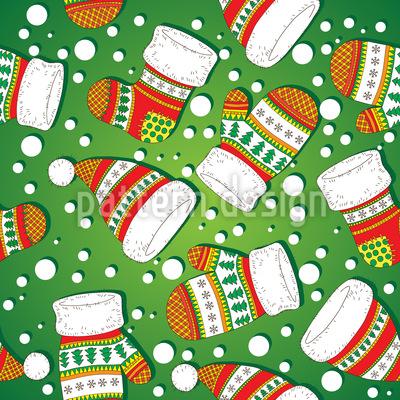 Weihnachtliche Strickwaren Rapportiertes Design