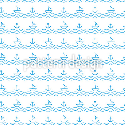 Urlaub auf dem Meer Nahtloses Muster