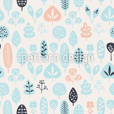 Nette Blätter Vektor Muster