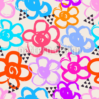 Festival Flowers Repeating Pattern