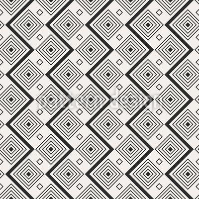 Zick-Zack-Quadrate Nahtloses Muster