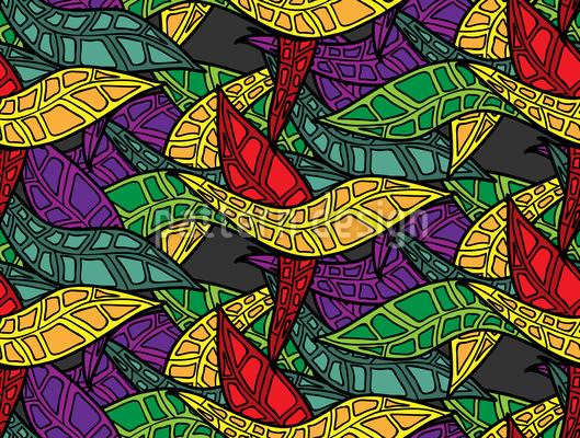 Grafische Blätter Vektor Muster