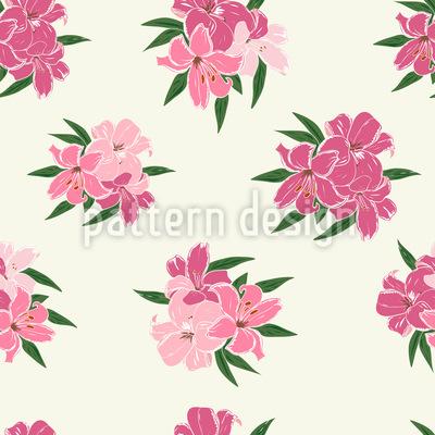Schöne Lilien Nahtloses Vektor Muster