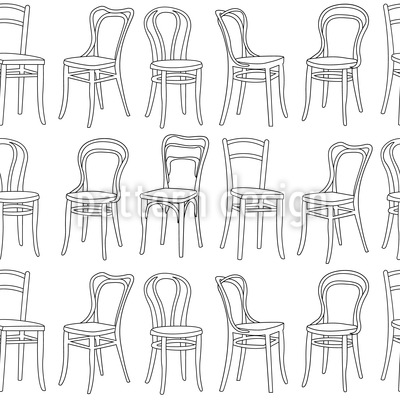 Klassische Stühle Rapportmuster