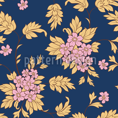 Darkblue Bouquet Vector Design