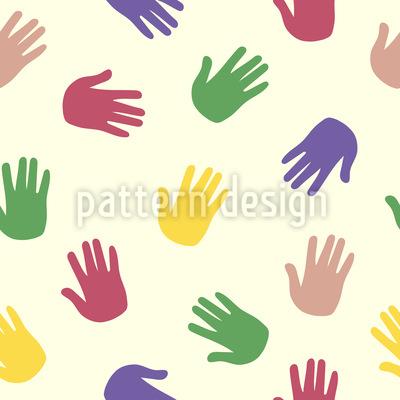 Handabdruck Muster Design