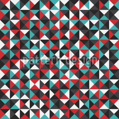Funky Dreiecke Vektor Ornament