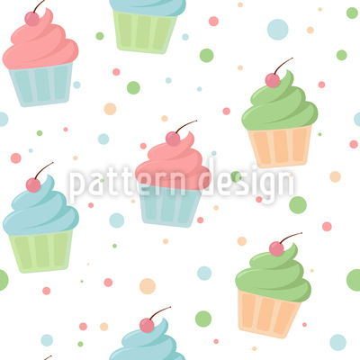 Muffins mit Topping Rapportiertes Design