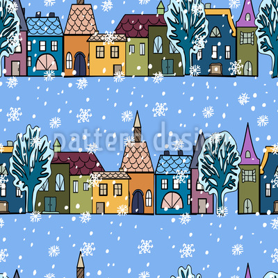 Winter Houses Pattern Design