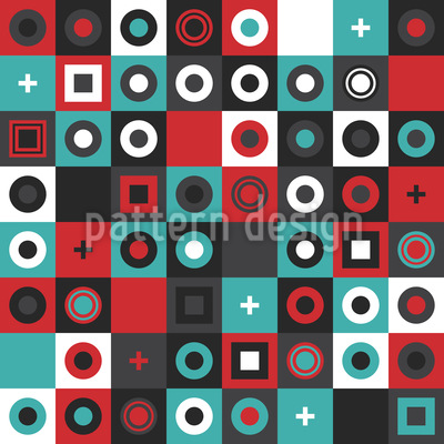 Moderne Quadratische Formen Musterdesign