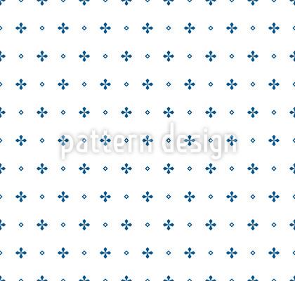 Monochrome Kreuze Nahtloses Vektor Muster