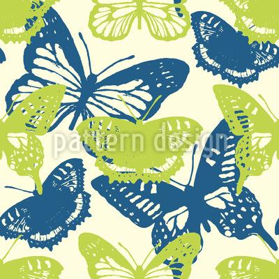 Spring Butterflies Vector Ornament