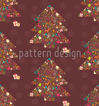 Embellished Christmas Trees Pattern Design