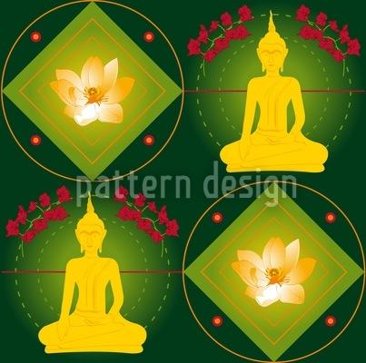 Bangkok Grün Nahtloses Muster