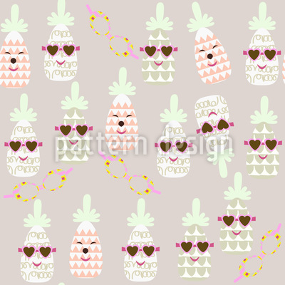 Pineapples In Summer Pattern Design