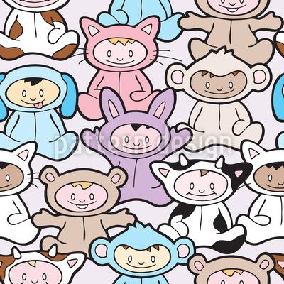 Pyjama Partyyyyyy Vector Pattern