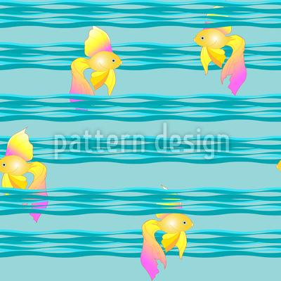 Goldfische auf Wellen Designmuster